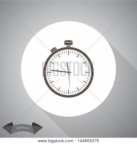 Stopwatch sport vector icon for web and mobile