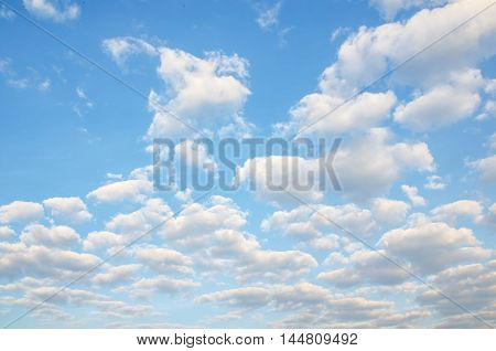 Clouds And Clear Blue Sky Weather Nature.