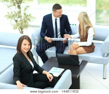 Business People Meeting Communication Discussion Working Office