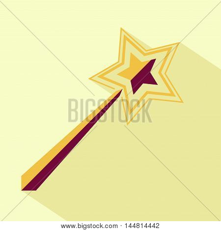 Vector flat magic wand icon. Isolated colored icon for logo web site design app UI. Flat magic wand illustration