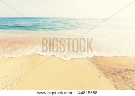 Defocused.Summer  background - beach and ocean