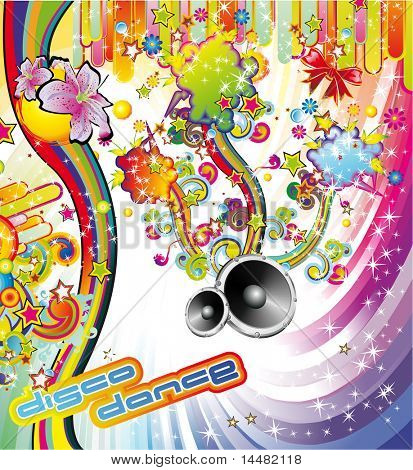 Summer Party Background for Disco Dance Flyers