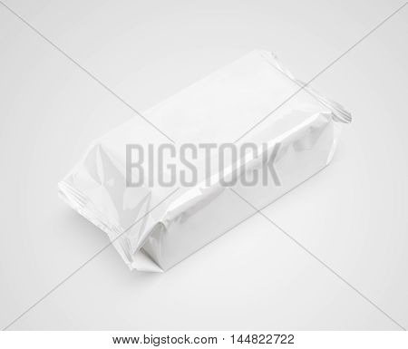 Wet Wipes Package Isolated On Gray