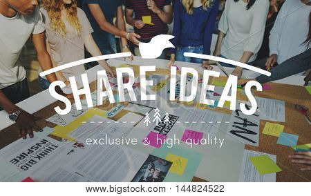 Share Ideas Brainstorming Sharing Imagination Inspiration Concept