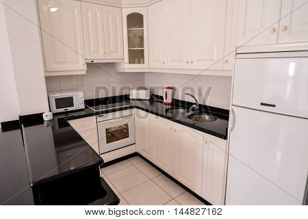Internal View Of A Modern Kitchen
