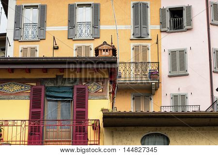 Lovere (Bergamo Lombardy Italy): along the Iseo lake: historic square