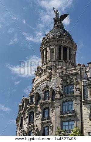 Barcelona (Catalunya Spain): ahistoric building along the Passeig de Gracia