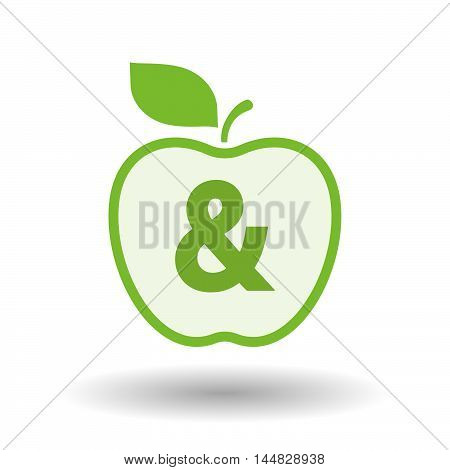 Isolated  Line Art  Apple Icon With An Ampersand