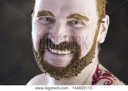 Portrait Of An Adult Male In Makeup
