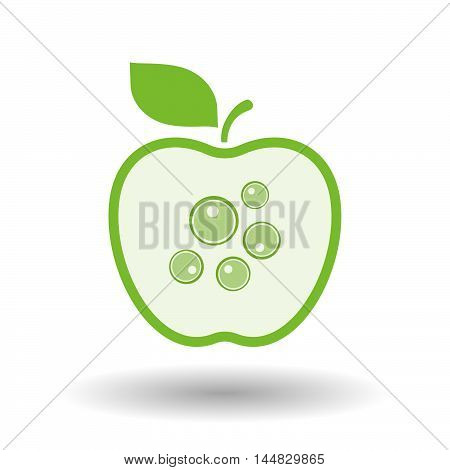 Isolated  Line Art  Apple Icon With Oocytes