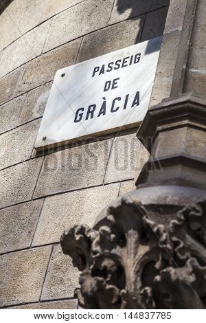 Paseo De Gracia Avenue, The Luxury Street Of Barcelona