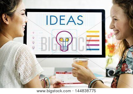 Ideas Light Bulb Creativity Imagination Inspiration Concept