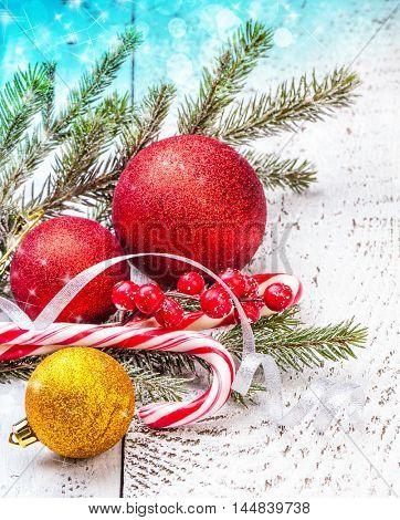 New year winter card