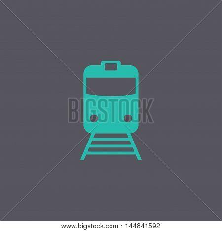 Train Icon. Flat Design Style.