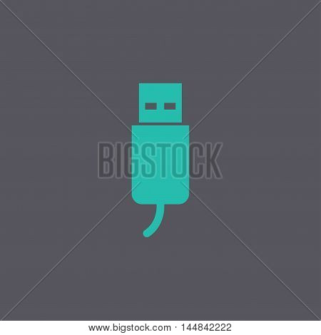 Usb Icon. Flat