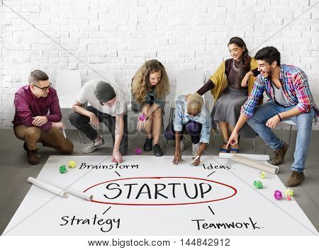 Company Startup Strategy Plan Ideas Concept