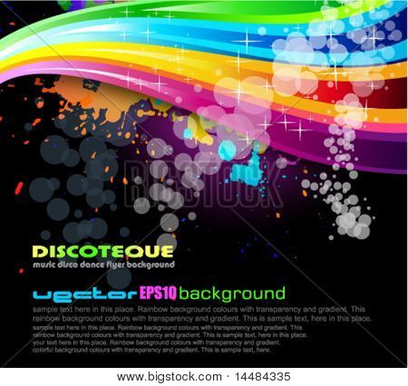 Abstract Rainbow Spectrum Background for Brochure or Flyers
