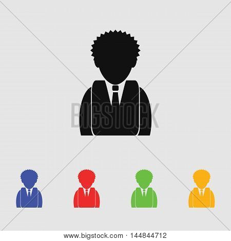 Businessman vector icon for web and mobile.