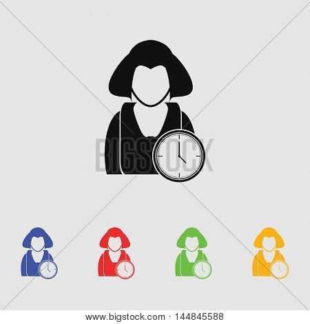 Time for work icon - Over time working icon