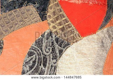 Painting Of Colorful Pieces Of Leather