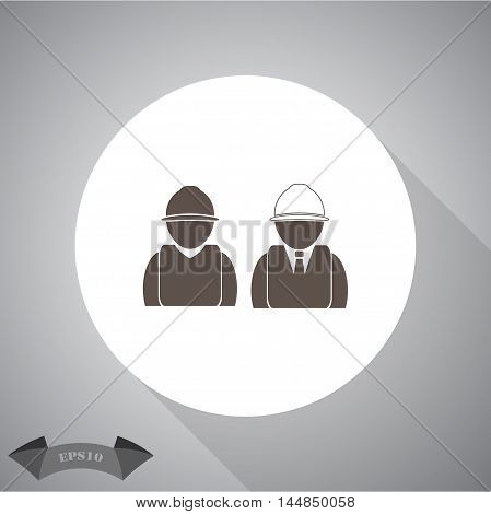 Engineer and Working vector  vector icon for web and mobile.