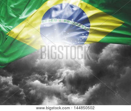 Brazil flag on a bad day