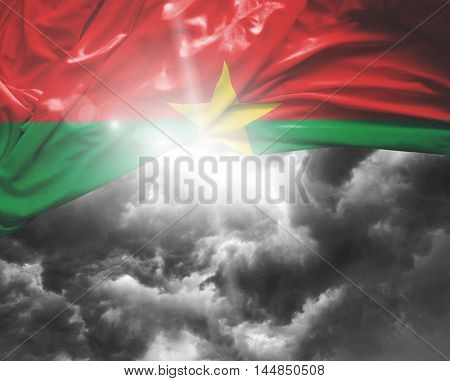 Burkina Faso flag on a bad day