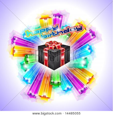 Gift Box for Chrstmas or Birthday Flyer