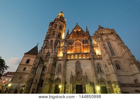 Saint Elisabeth gothic Cathedral in Kosice, the biggest in Slovakia