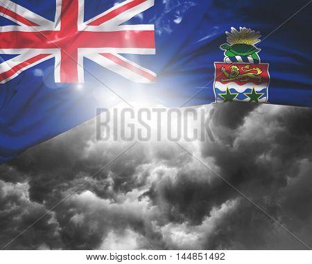 Cayman Islands flag on a bad day