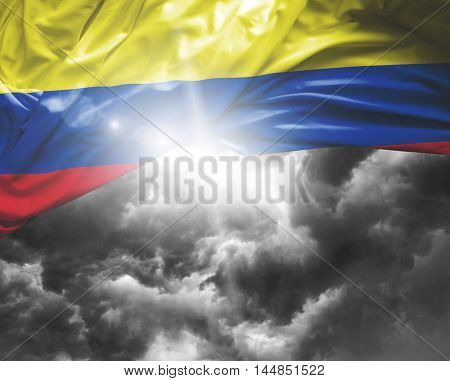 Colombia flag on a bad day