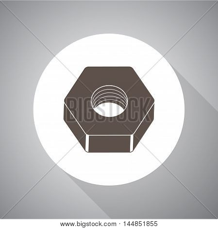 Nut screw.  vector icon for web and mobile.