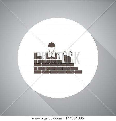 builder of a wall vector icon for web and mobile.