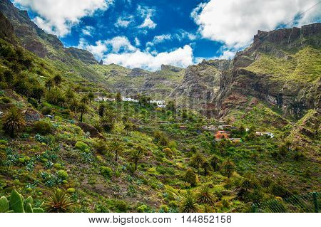 Masca Village and famous valley in Tenerife Canary Islands Spain