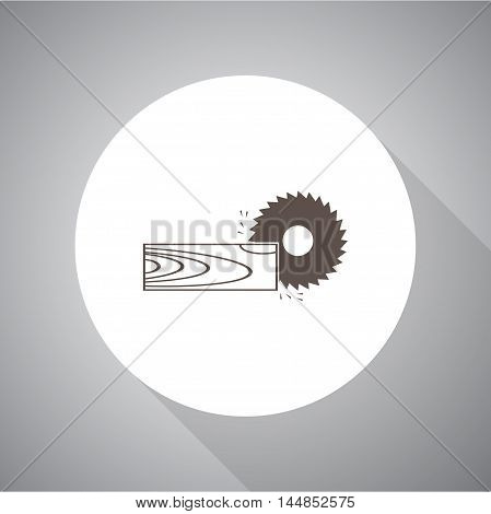 Power-saw bench  vector icon for web and mobile.