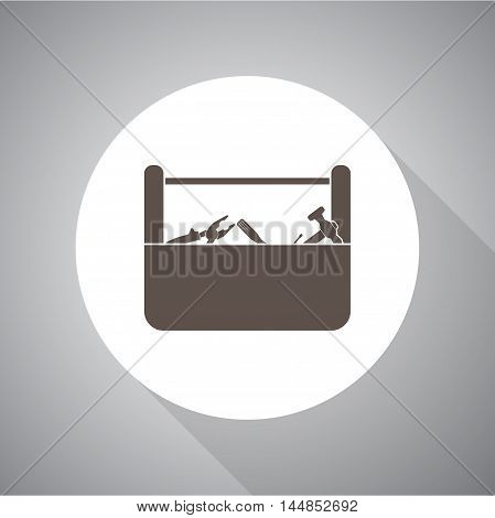 toolbox vector icon for web and mobile