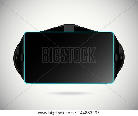 Virtual reality glasses isolated vector on white background