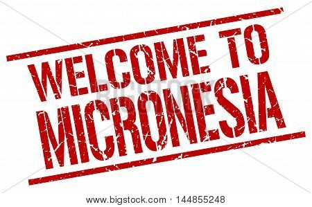 welcome to Micronesia. stamp. grunge square sign