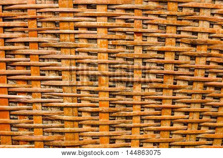 woven bamboo craft basket pattern background .