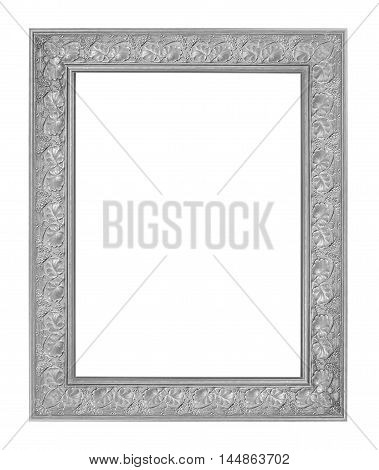 antique old frame isolated on white background