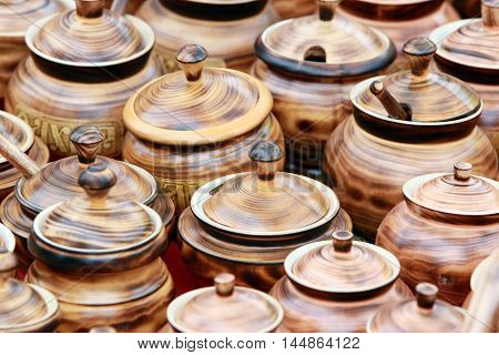 Pots Made Of Wood