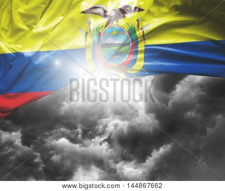 Ecuador flag on a bad day