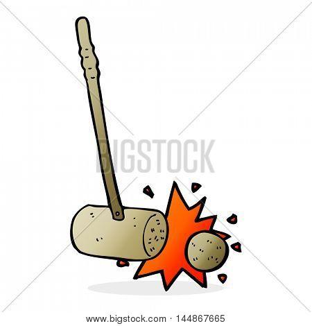croquet mallet hitting ball