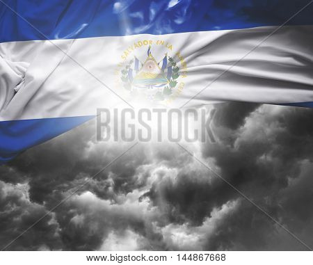 El Salvador flag on a bad day