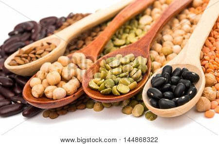 cooking ingredient beans on a white background