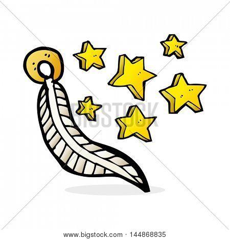 cartoon lucky charm feather
