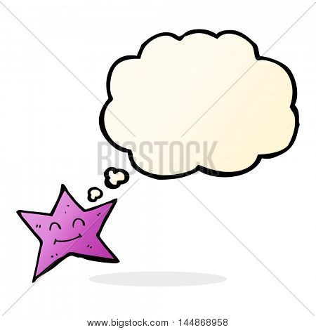 cartoon star character with thought bubble