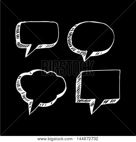 an images of Speech bubble hand drawing illustration design