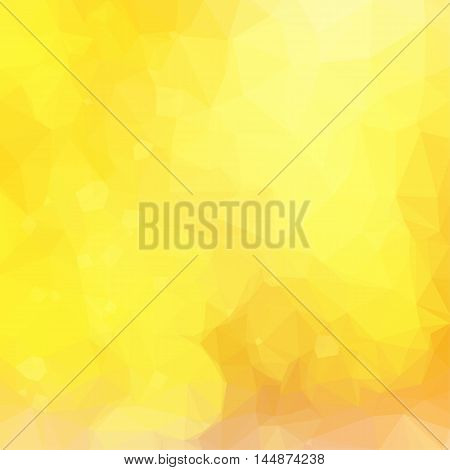Low poly illustration Yellow festive background with light beams