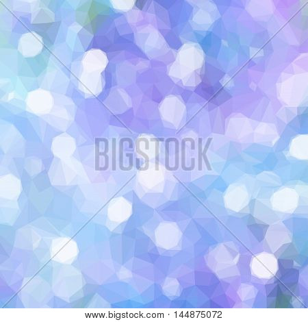 Low poly illustration Blue and violet Festive background with light beams